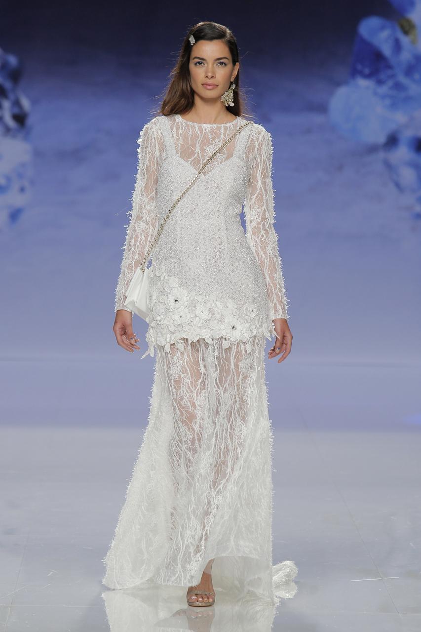 Vestido de Inmaculada Garcia para 2018. Imagen: Barcelona Bridal Fashion Week.