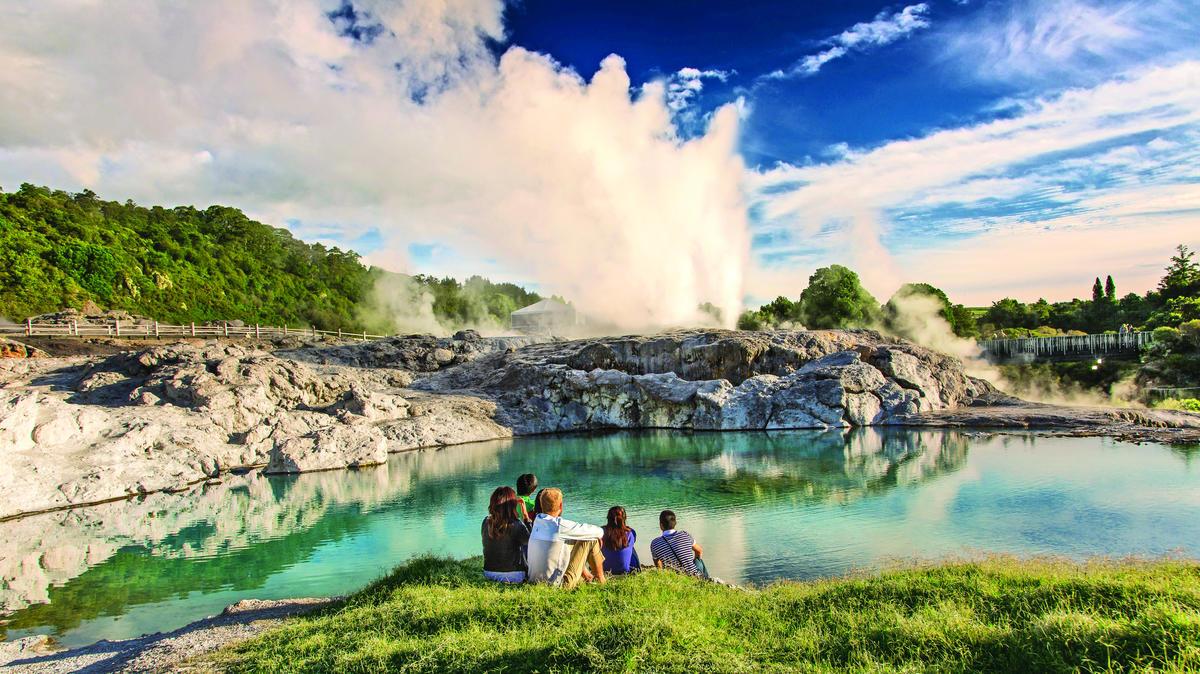 Imagen de Nueva Zelanda de Te Puia. Vía Oficina de Turismo de Nueva Zelanda.
