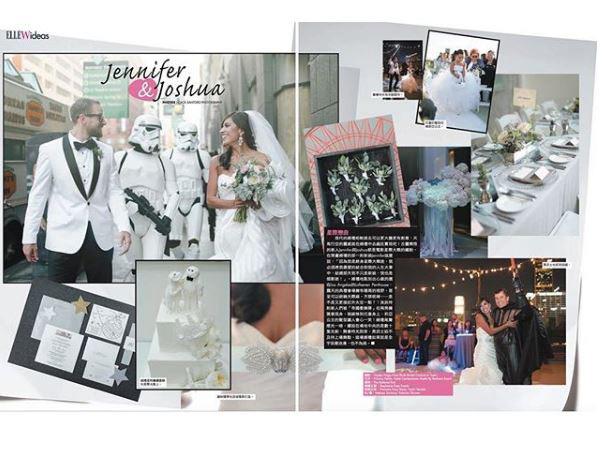 Imagen de la boda de Jennifer y Joshua. Vía Instagram @Caca_Santoro