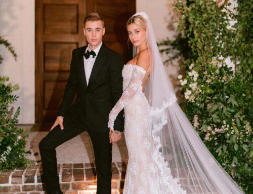 Cómo escondió Hailey Baldwin su vestido de novia