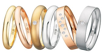 alianzas de boda de oro DUOO