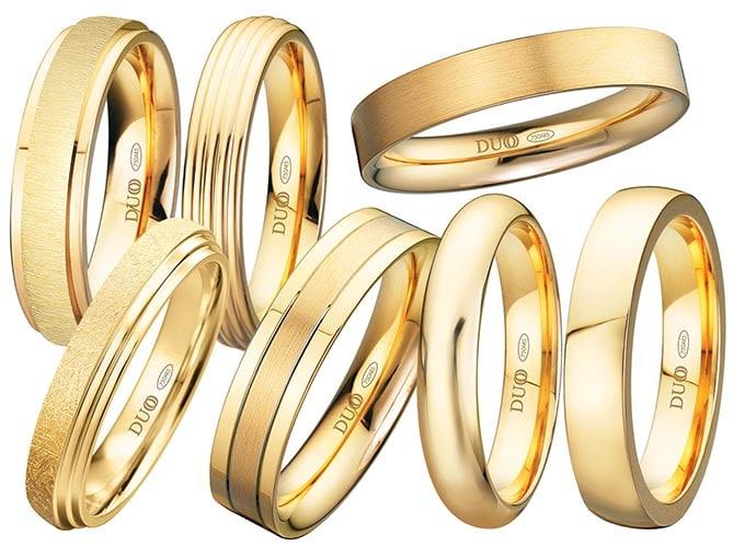alianzas de boda de oro amarillo
